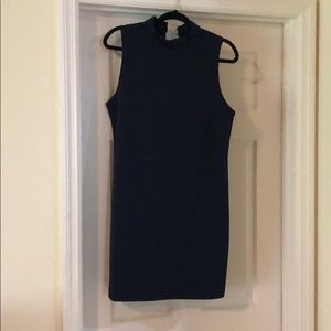 Abercrombie navy high neck shift dress